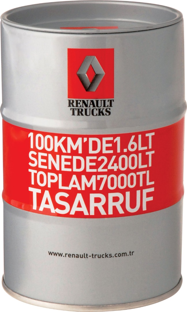Renault - Dia.83x125 h. - Metal Box - Round - Promotion