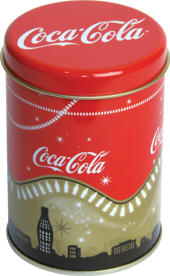 Coca Cola - Dia.83x120 h. - Metal Box - Round - Promotion