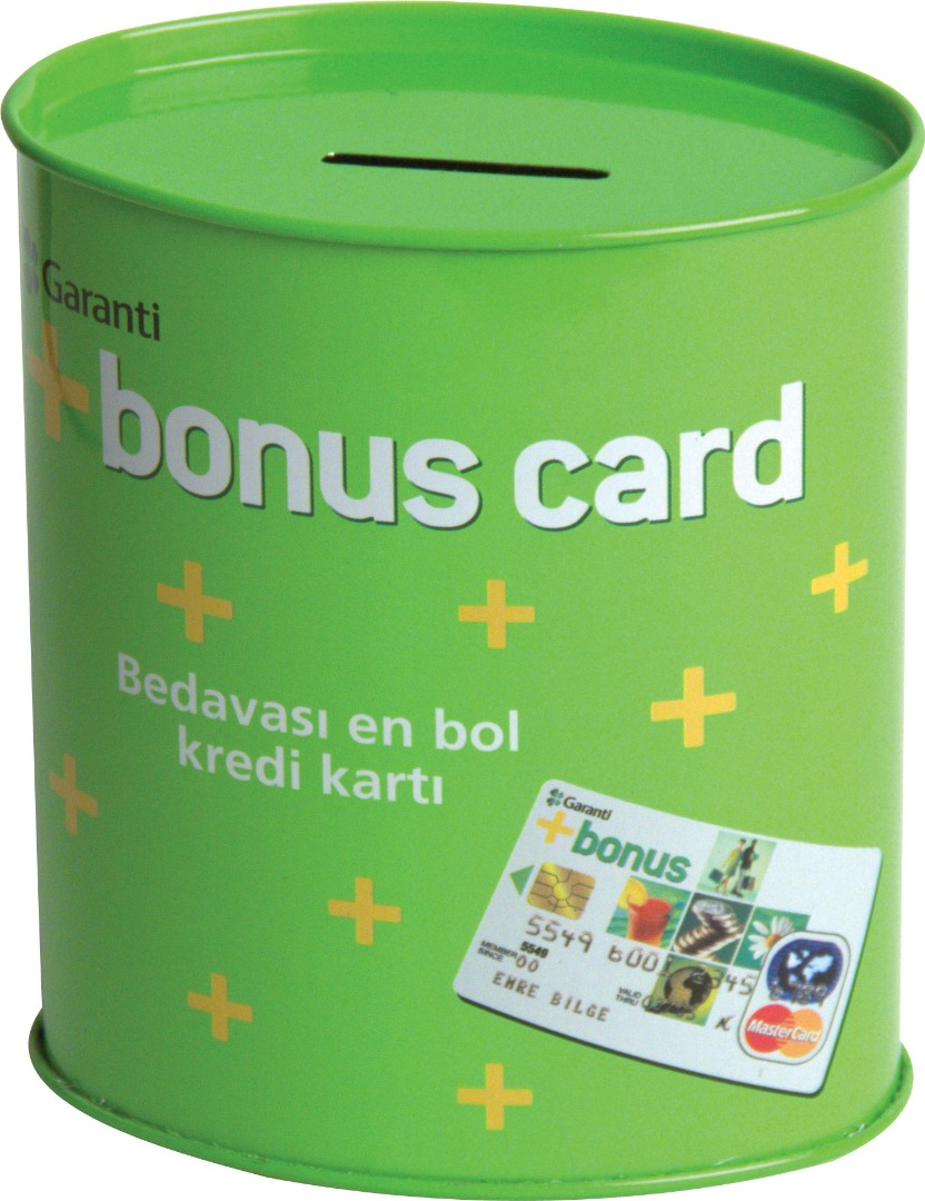 Bonus Card - 103x64x120 h. - Metal Box - Oval - Promotion
