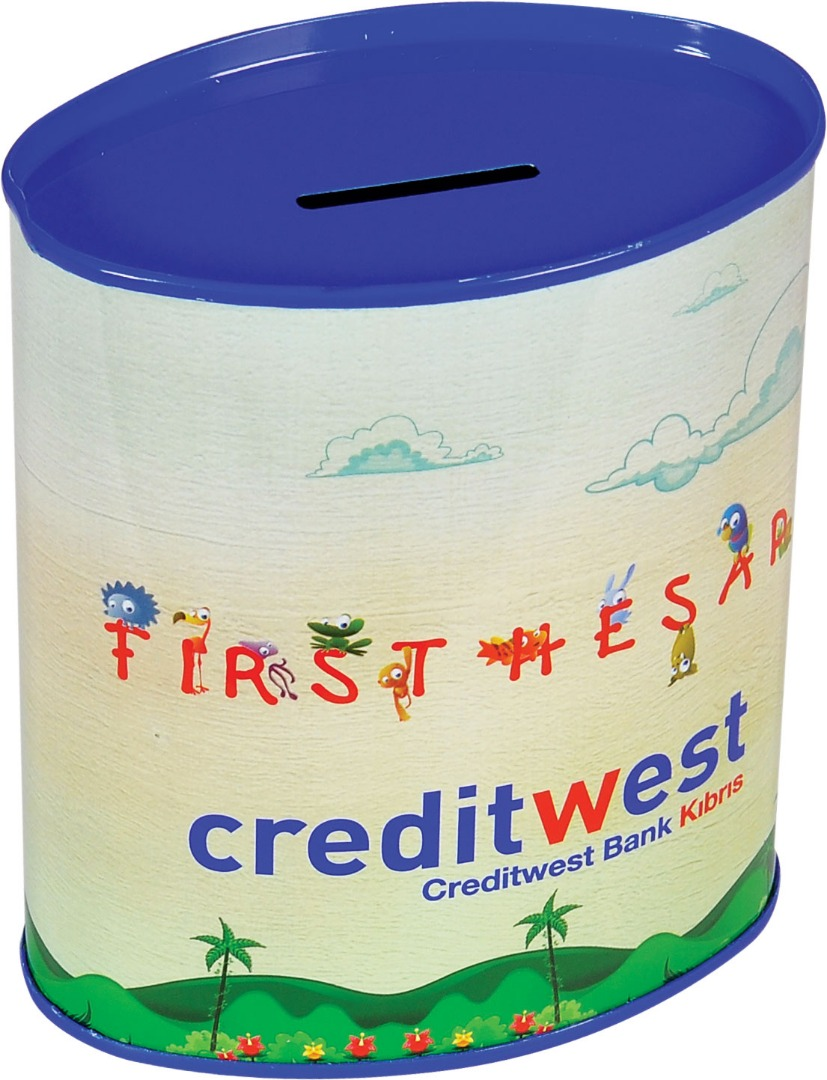 Credit West - 103x64x120 h. - Metal Box - Oval - Promotion