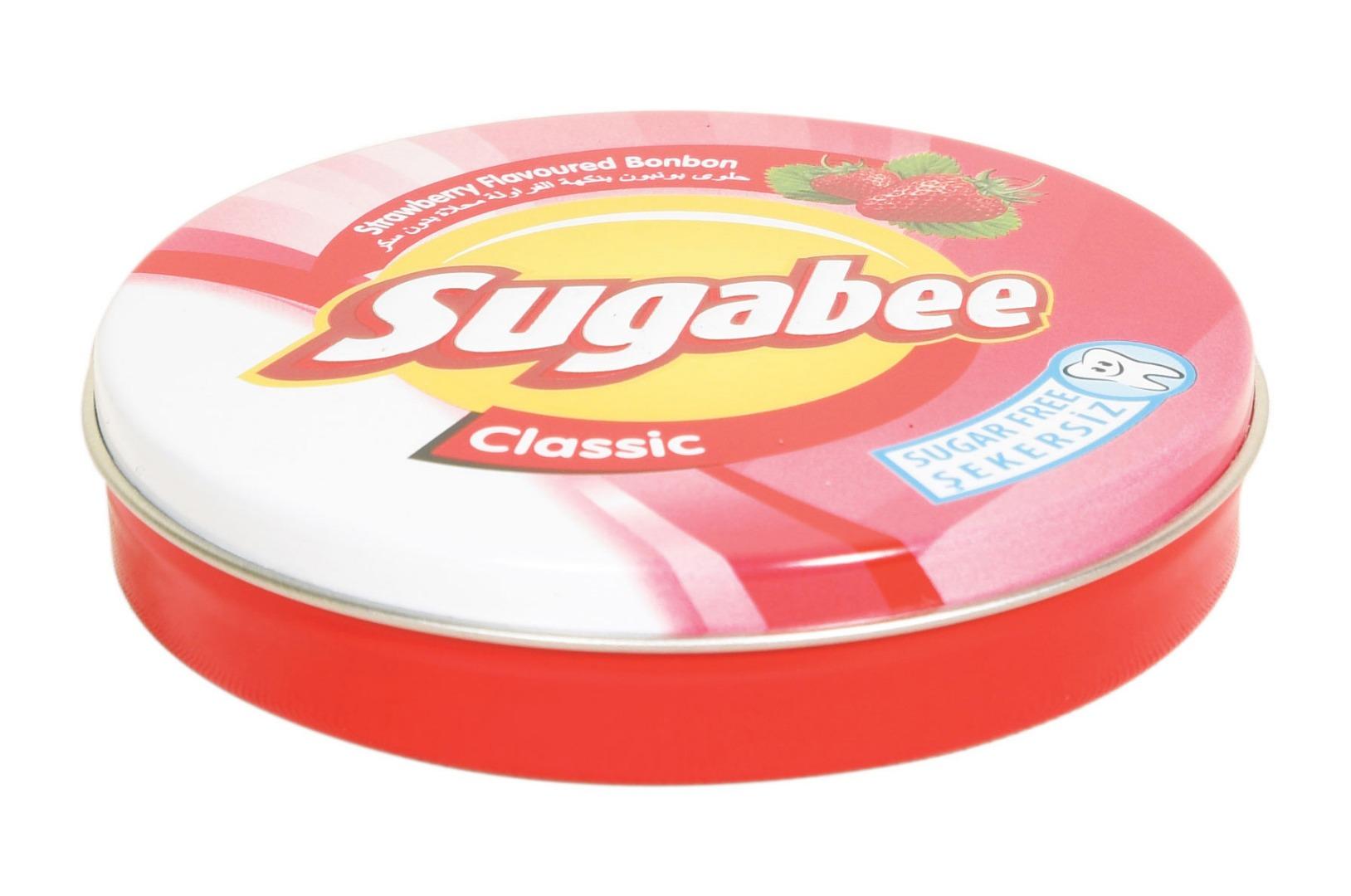 Sugabee - 74 çapx15 h. - Metal Teneke Kutu - Yuvarlak - Gıda – Şeker