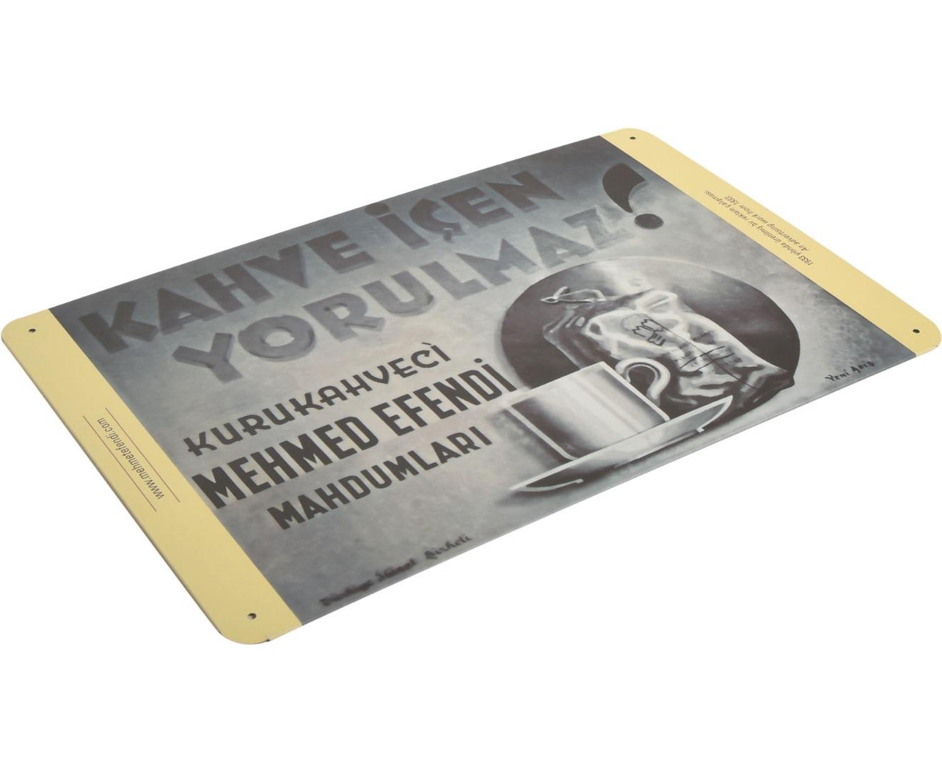 Mehmet Efendi - 279x186 - Metal Plate - Rectangular -