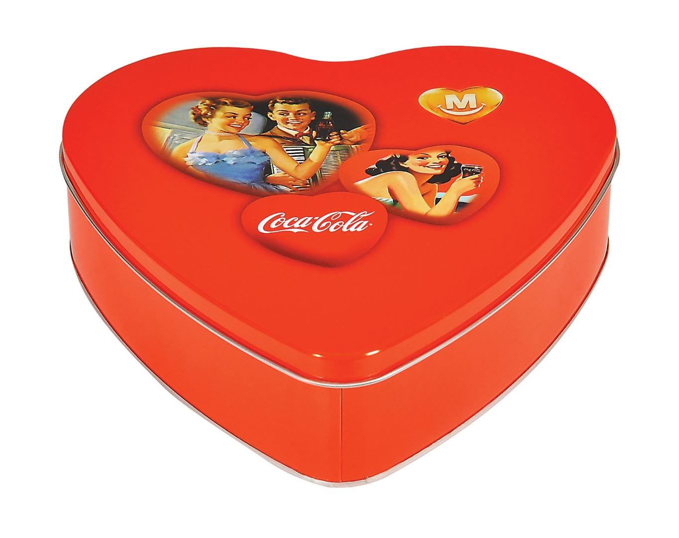 Coca Cola - 235x223x60 h. - Metal Box - Heart - Promotion