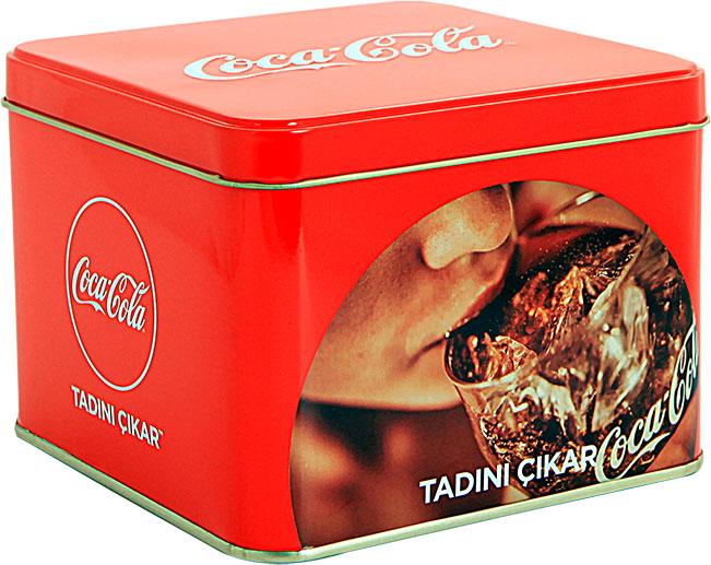 Coca Cola - 135x135x100 h. - Metal Box - Square -