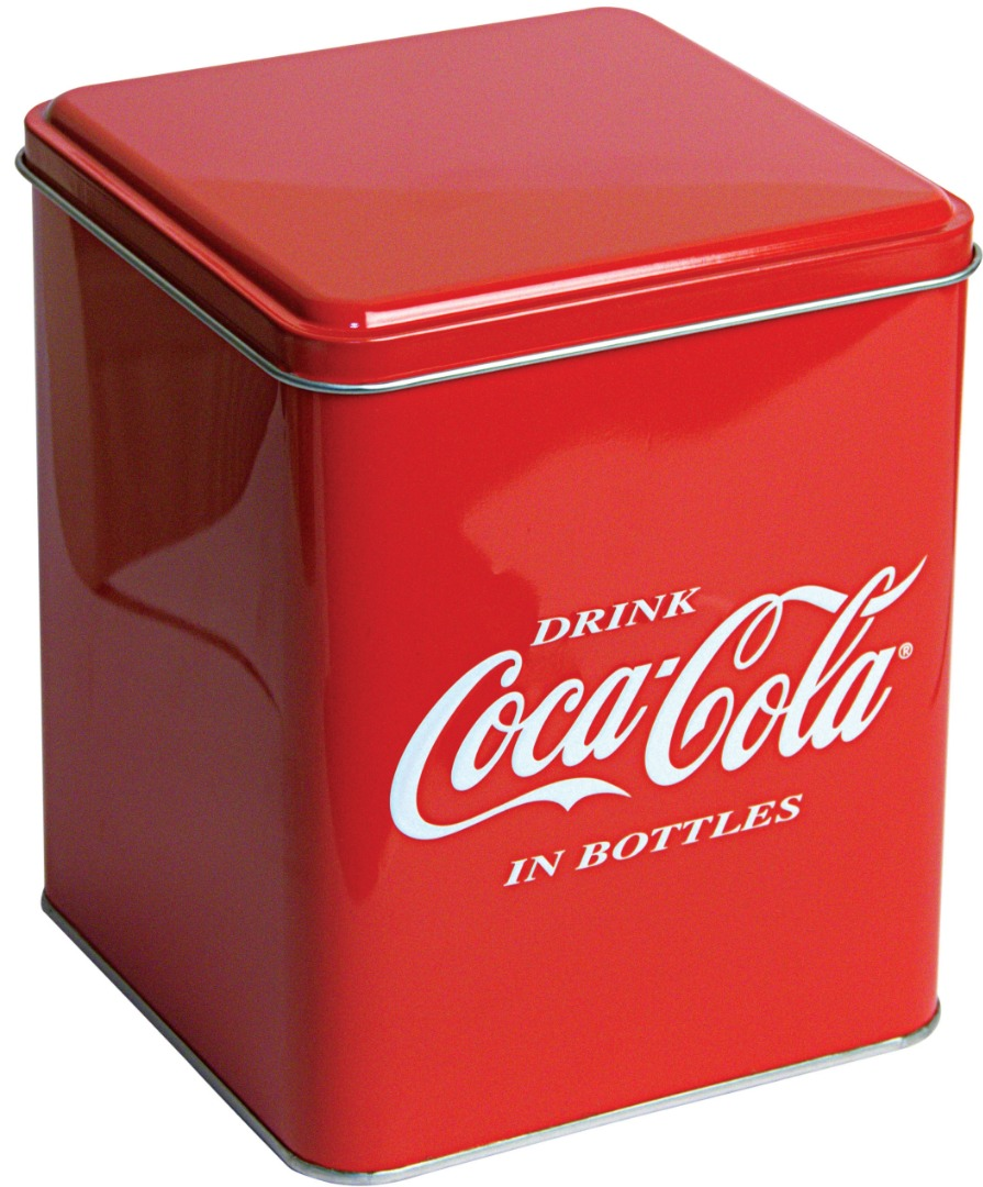 Coca Cola - 160x160x190 h. - Metal Box - Square -